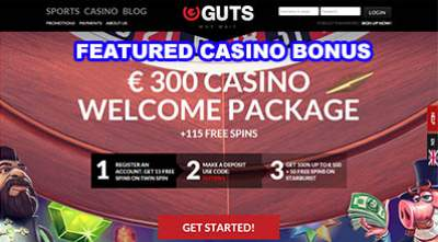 Why Wait? GUTS 115 Free Spins Casino Bonus